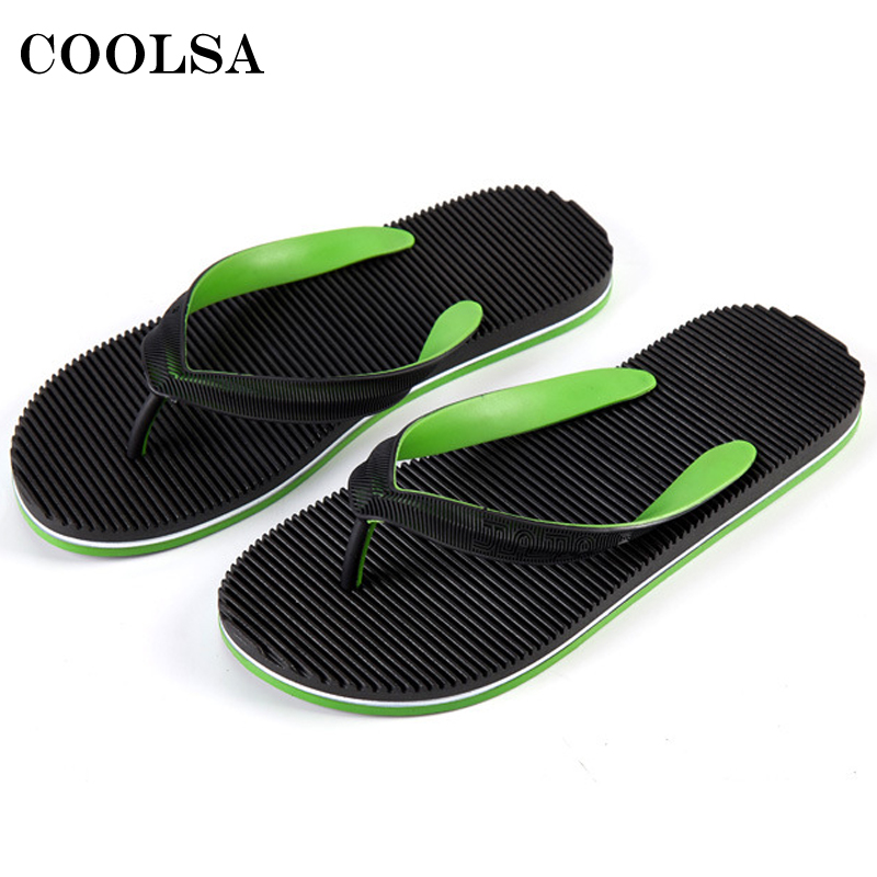 Summer Men Flip Flops Beach Slippers Mixed Colors Flat Slides Bathroom Sandals Non-Slip Home Flip Flop Male Casual Slip On Shoes