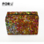 Caja de cosméticos Bolsa de Cosméticos de Moda Femenina Paillette de Impresión de Las Mujeres Cremallera Señora Viajes Tocador de Maquillaje Bolsa de Almacenamiento de Gran Capacidad