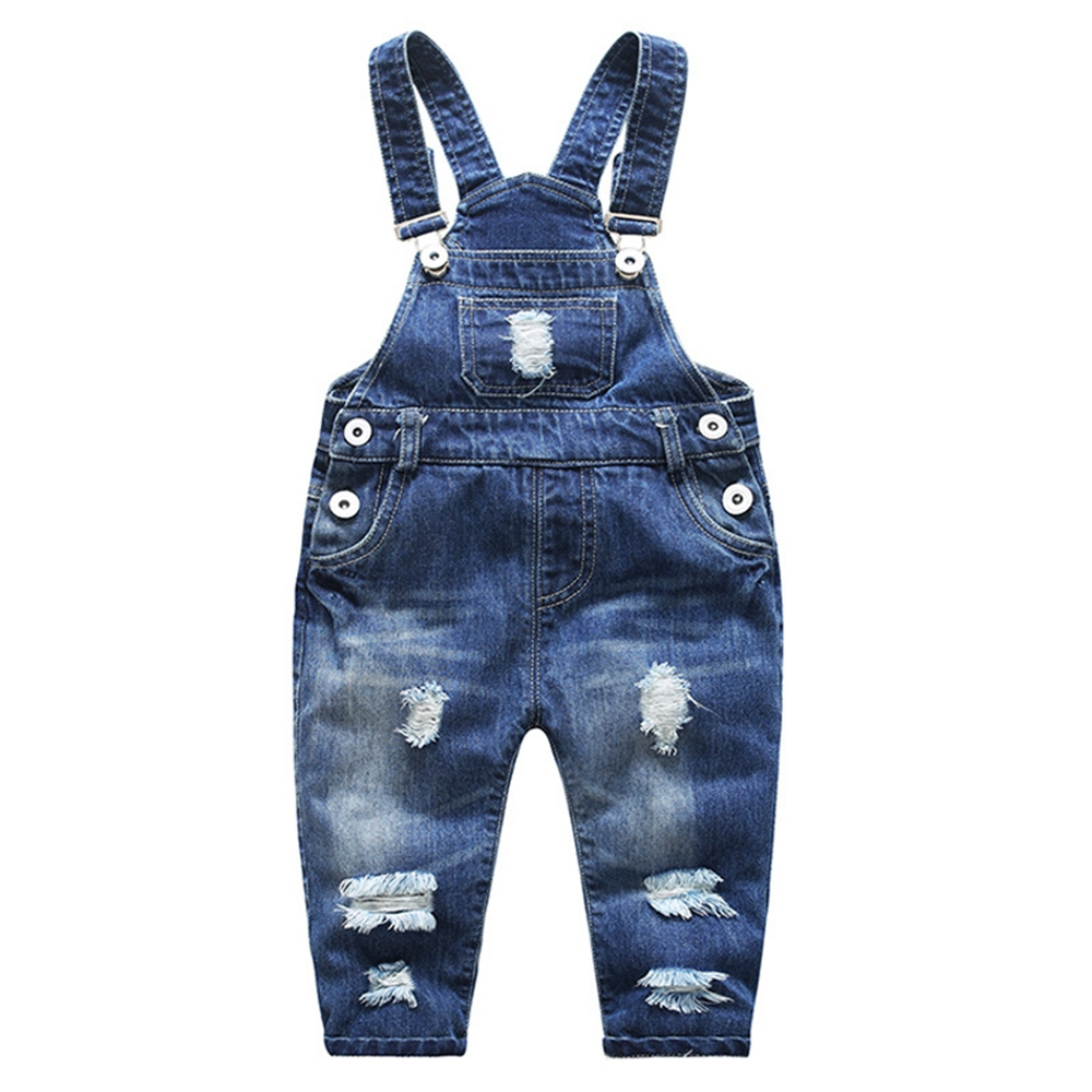 12m-6t Kids Bib Overalls Spring Autumn Baby Denim Trousers Girls Boys Jeans Jumpsuits Children   Rompers   Toddler Clothes