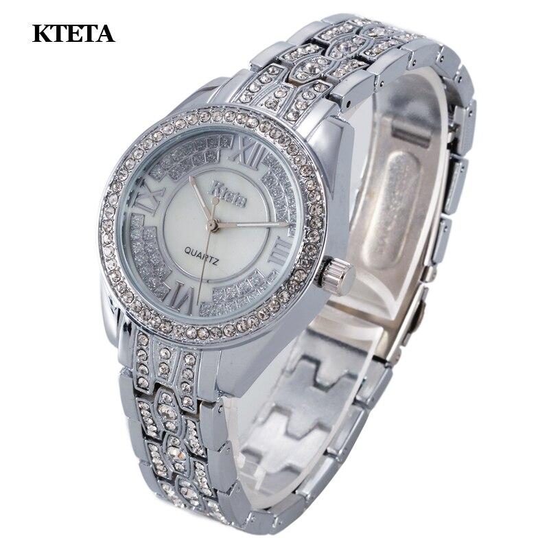 Reloj mujer gold quartz horloge vrouwen beroemde merk luxe diamant - Dameshorloges - Foto 4