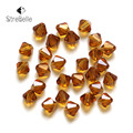 Czech Seed Bicone Bead (95/LOT) 6mm Colorful Crystal Bicone Beads 5301 AB Color DIY Jewelry Faceted Glass Crystal Beads Spacer