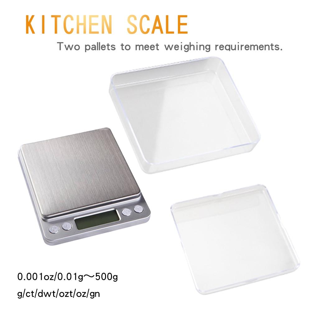 Przenośne wagi kuchenne Precyzyjna elektroniczna waga cyfrowa Mini - Przyrządy pomiarowe - Zdjęcie 2