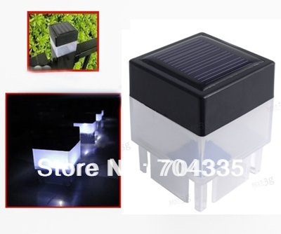 10pc/lots Solar Powered Fence Post Garden Outdoor LED White Light