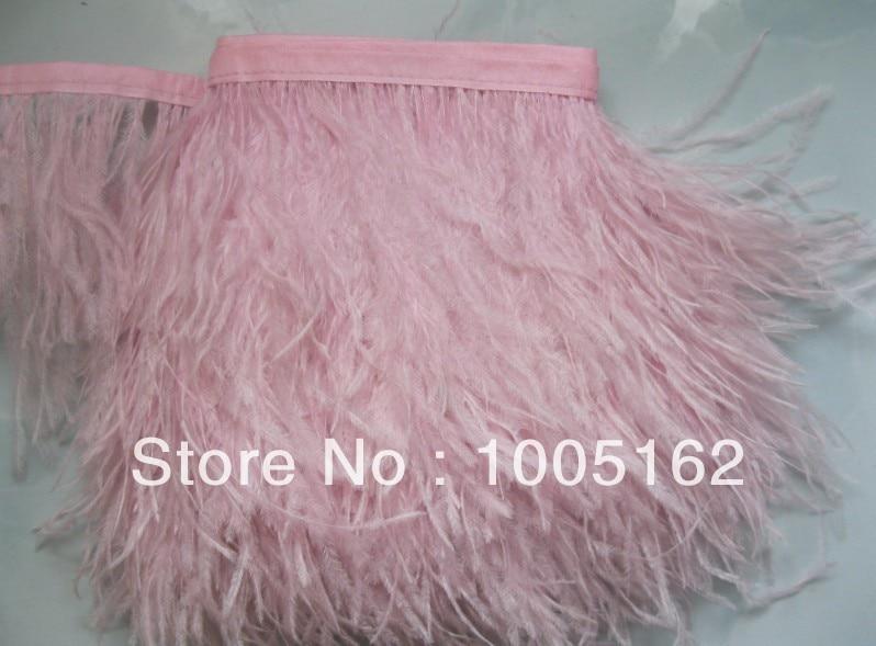1 Yard Light Pink Chandelle Feather Trim