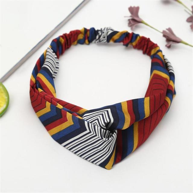 Newest Boho Floral Scarves Twist Knot Headband Elastic Wrap Turban Hair  Band Yoga Breathable Ladies Neckerchief Fashion Echarpe 73f6256b892