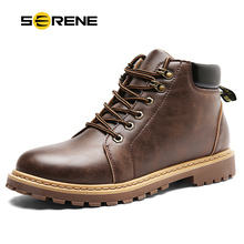 SERENE Mens Winter Snow Boots Military Tactical Male Work Safety Desert Shoes Combat Timber Motocycle Cowboy Army kanye West Bot