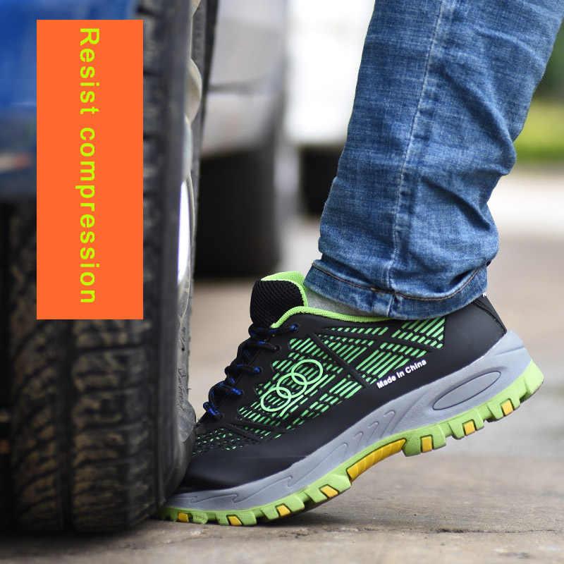 ROXDIA marka çelik toecap erkekler iş ve güvenlik botları yaz nefes yalıtım 6KV darbeye dayanıklı erkek ayakkabı boyutu 38- 44 RXM115