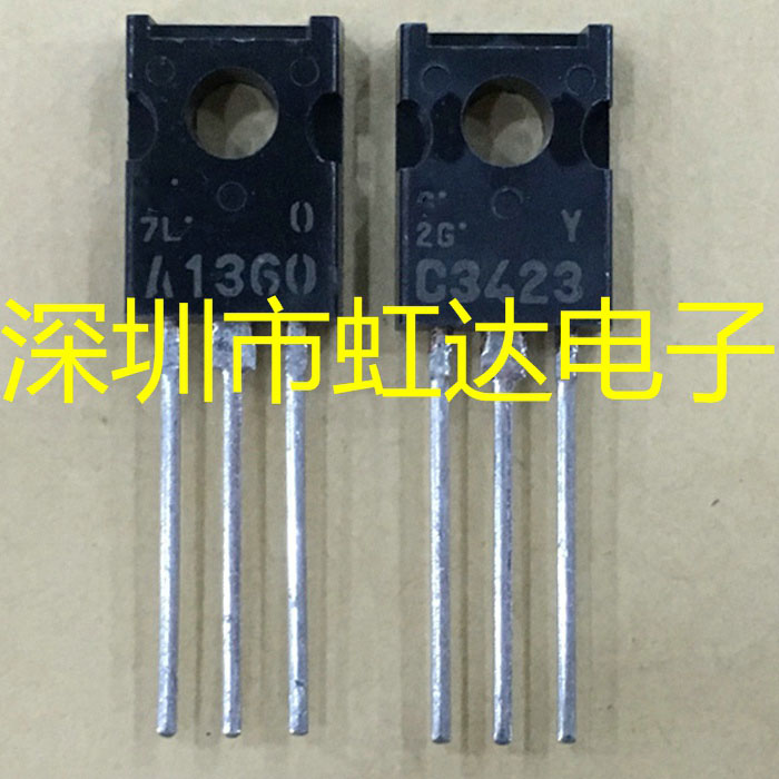 10pcs (5pcs A1360 + 5PCS C3423 ) 2SA1360 TO-126 2SC3423 TO126 New Original