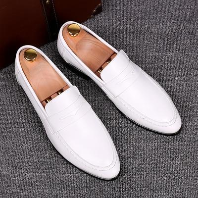 italia white loafers leather dress footwear casual men