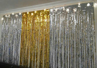 Party Backdrop Decorations 1 2m Metallic Foil Door Curtain Party Ball Decoration Party Christmas Wedding