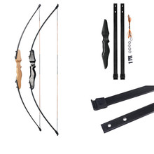 Hot 40lbs Taken down Recurve Bow for Archery Bow Shooting Hunting Game Outdoor Sports Right hand&left hand bow can choose portable recurve take down bow game cs bow and arrow set with harmless right hand outdoor hunting bow archery shooting