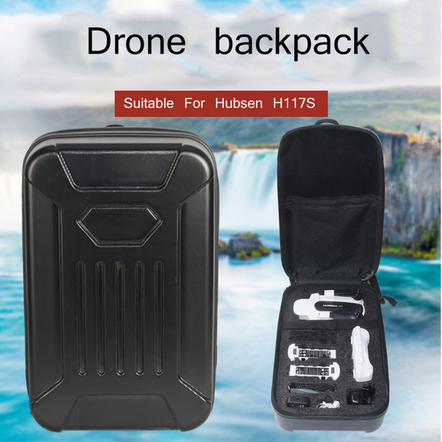 Black PC Hard Shell Backpack Case Bag For Hubsan H117S Quadcopter High Quality RC Parts Drone Bag Drone Accessories
