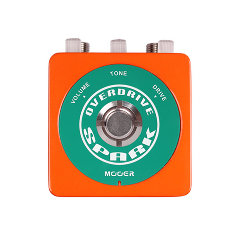 Mooer Spark Series 80's Vintage Overdrive Tone Guitar Effect Pedal True Bypass aroma adr 3 dumbler amp simulator guitar effect pedal mini single pedals with true bypass aluminium alloy guitar accessories