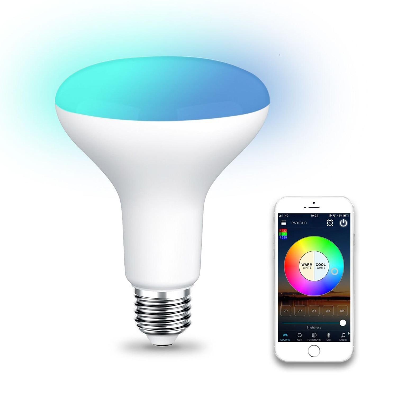 E27 /E26 Plastic aluminum WiFi BR30 LED Flood Light Bulb Tunable White & Color Changing Smart Flood Light BulbE27 /E26 Plastic aluminum WiFi BR30 LED Flood Light Bulb Tunable White & Color Changing Smart Flood Light Bulb
