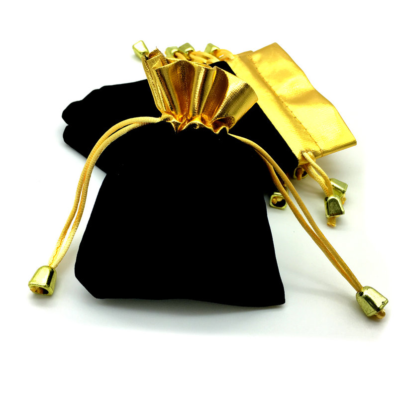 100pcs Lot High Quality Pullslot Bag Phnom Penh Black Gift Bag Christmas Accessories 120 x 95