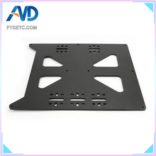 Black Aluminum Y Carriage Anodized Plate Upgrade V2 Prusa i3 V2 Hot Bed Support Plate For Prusa i3 DIY 3D Printer parts 3d printer parts mks pwc v2 0 finish off support for marlin smoothieware