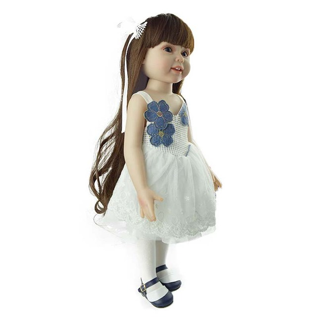 18'' American Baby Doll Handmade Soft Silicone Vinyl Reborn Dolls Realistic Toddler Doll Toys for Children Christmas Collection 5