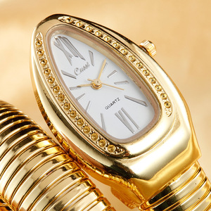 Image 3 - 2019 CUSSI Luxus Marke Schlange Uhr Gold Damen Uhren Silber Quarz Armbanduhren Damen Armband Uhr Reloj Mujer Uhr Geschenk