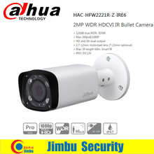 DAHUA HDCVI Bullet Camera 2MP 1080P CMOS IR 60M IP67 2.7~12mm varifocal motorizlens HAC-HFW2221R-Z-IRE6 security CCTV camera