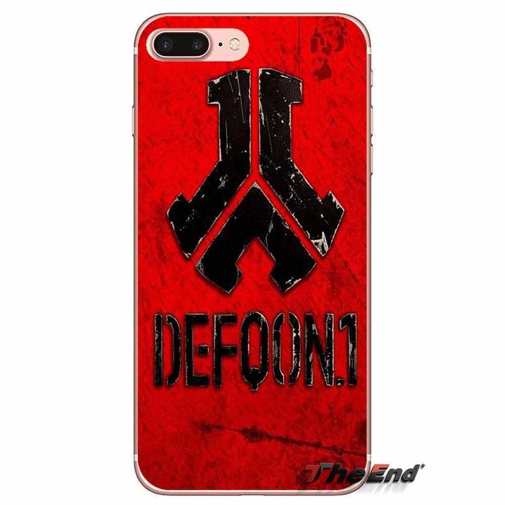 עבור iPhone X 4 4S 5 5S 5C SE 6 6 S 7 8 פלוס סמסונג גלקסי J1 J3 J5 J7 A3 A5 2016 2017 טלפון לוגו Defqon 1 לוחמי סוף השבוע מקרה