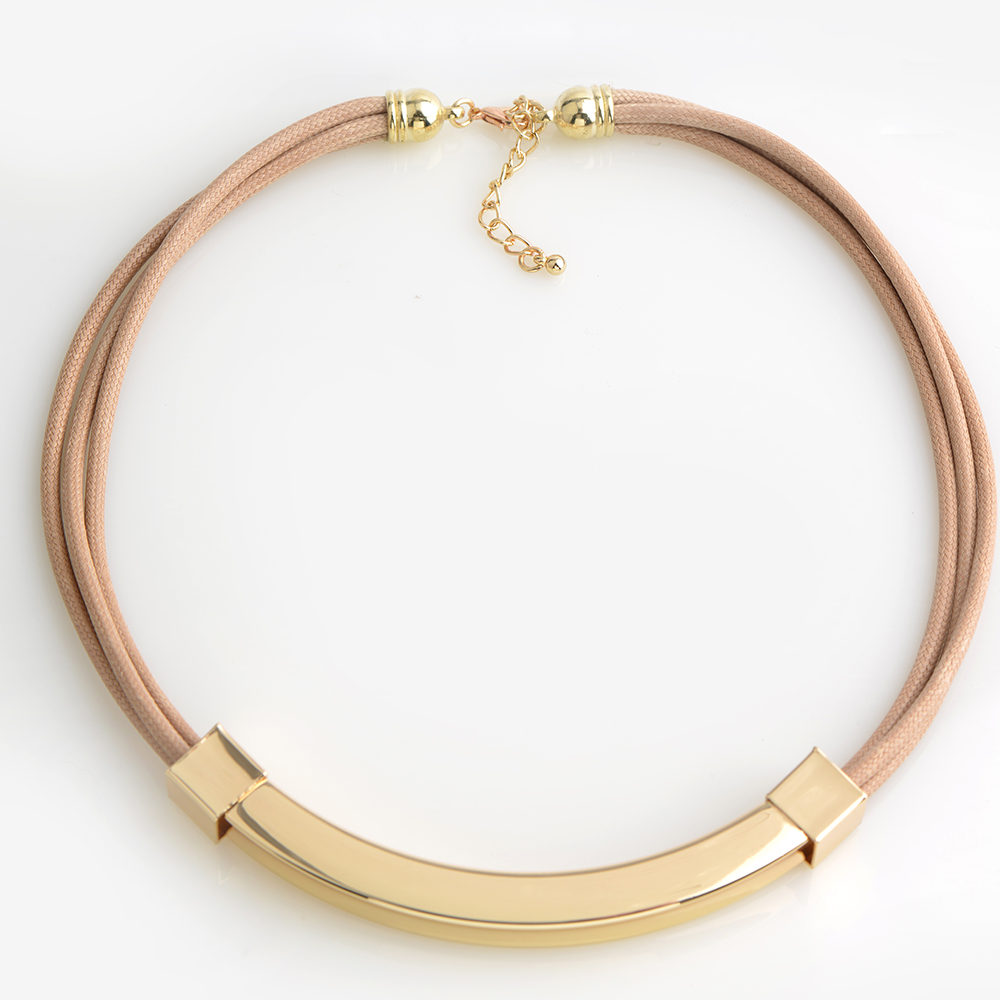 Desgin Fashion Colored Multi Wax Rope Necklace Jewelry High quality polished Pendant choker collar Women Man Leather Necklace