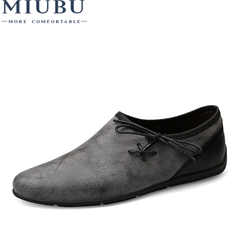 MIUBU 2019 Brand Men Loafers Cow Suede Men Driving Shoes Genuine Leather Soft Men Boat Shoes Breathable Slip On Men Moccasins in Men 39 s Casual Shoes from Shoes