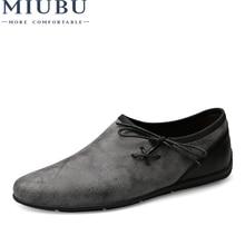 MIUBU 2019 Brand Men Loafers Cow Suede Men Driving Shoes Genuine Leather Soft Men Boat Shoes Breathable Slip-On Men Moccasins цена в Москве и Питере