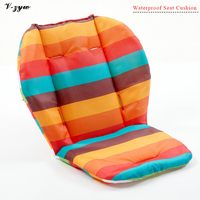 Waterproof Cotton Baby Carriage Stroller Accessories Seat Cushion Infant Striped Pillow Pram Pad Child Lunch Chair