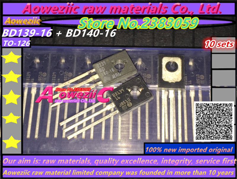 Aoweziic 100% New Original Imported BD139-16 BD140-16 Audio Transistor TO-126 Transistor (1/ Sets)