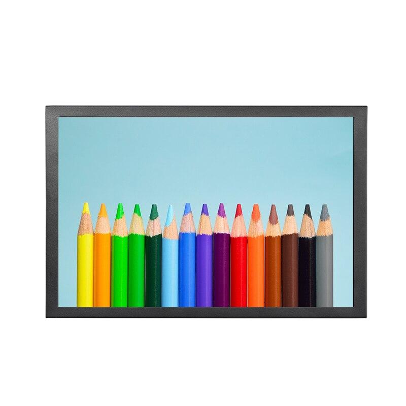 15.6 pouces 1366x768 16:9 1080 P VGA HDMI BNC boîtier métallique LCD moniteur USB moniteur mural écran d'affichage publicitaire