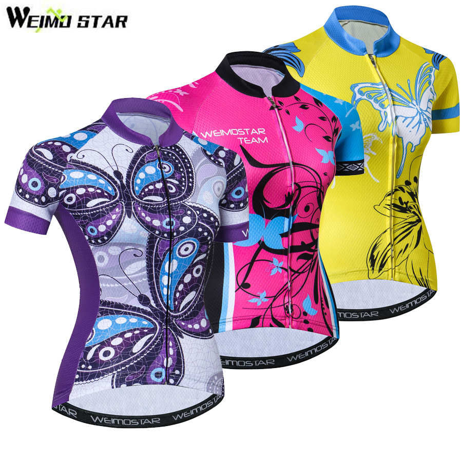 Womens Cycling Jersey Shirts Ropa Ciclismo Team Bike Bicycle Jerseys MTB Short Sleeve Outdoor Wear Tops