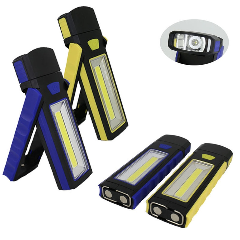 New Portable COB LED Flashlight Magnetic Work Light Rechargeable 360 degree Stand Hanging Torch Lamp For Night hunting super bright usb charging portable mini cob led flashlight rechargeable magnetic pen clip hand torch work light inspection lamp