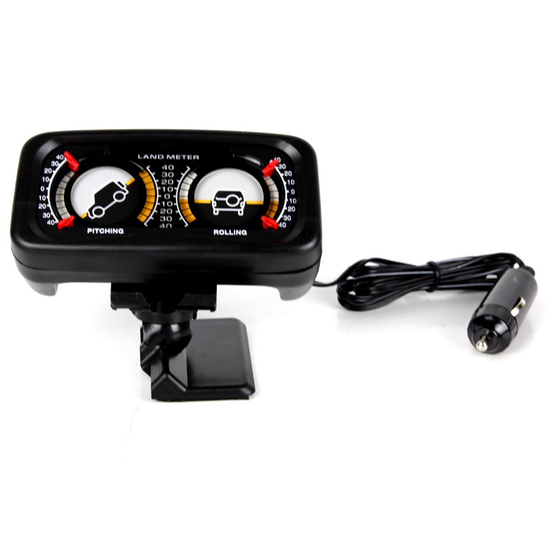 Car Auto Compass Balance Meter Slope Indicator Land Meter With LED Light For Off-Road Vehicle SUV