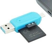 1 шт. 2 в 1 OTG USB 2,0 устройство для чтения карт SD TF слот для карт памяти для устройства чтения sd-карт Универсальный микро USB для ПК для телефона, компьютера, ноутбука