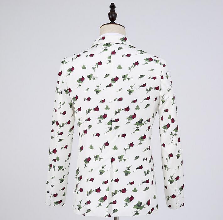 Costumes Floral Formelle Chanteur Pour De Pantalon Star Robe Avec Mariage Scène Blanc Hommes Vêtements Style Ensemble Danse Costume Mens Marié YqU6qxzWnr
