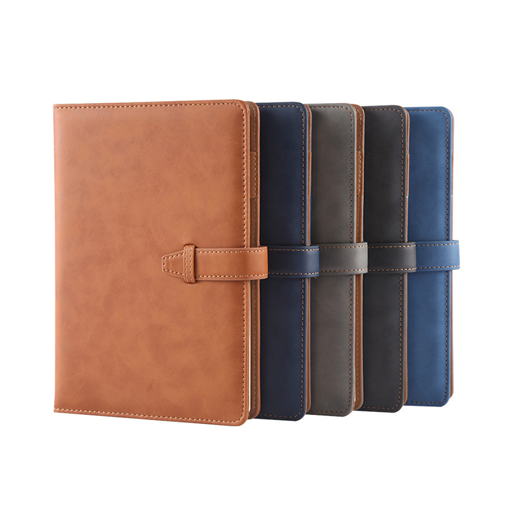 New Office Notebook Agenda Leather Hardcover Notebook A5 Vintage Note Book Cover Business Notepad Stationery Supplies