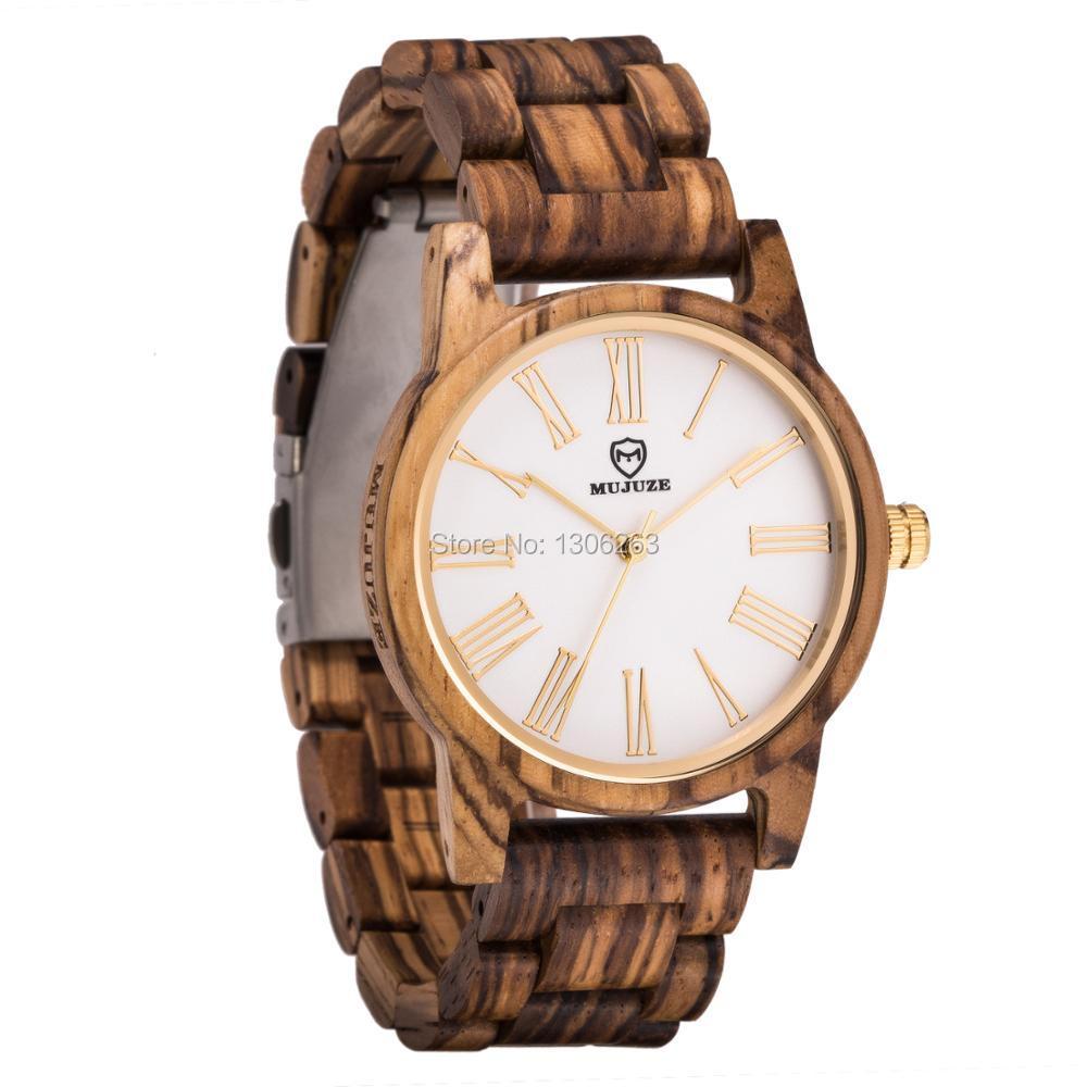 2018 El más nuevo diseño de los hombres de salud reloj de madera de - Relojes para hombres - foto 1