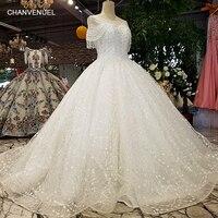 LS21108 2018 nieuwe collectie off witte organza bruidsjurken kant bloemen hand werken jurk real pictures van china winkel