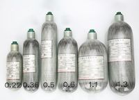 High Quality SCBA Cylinder Carbon Fiber Cylinder Small Composite Bottle PCP Cylinder 0 22L 200CC Free