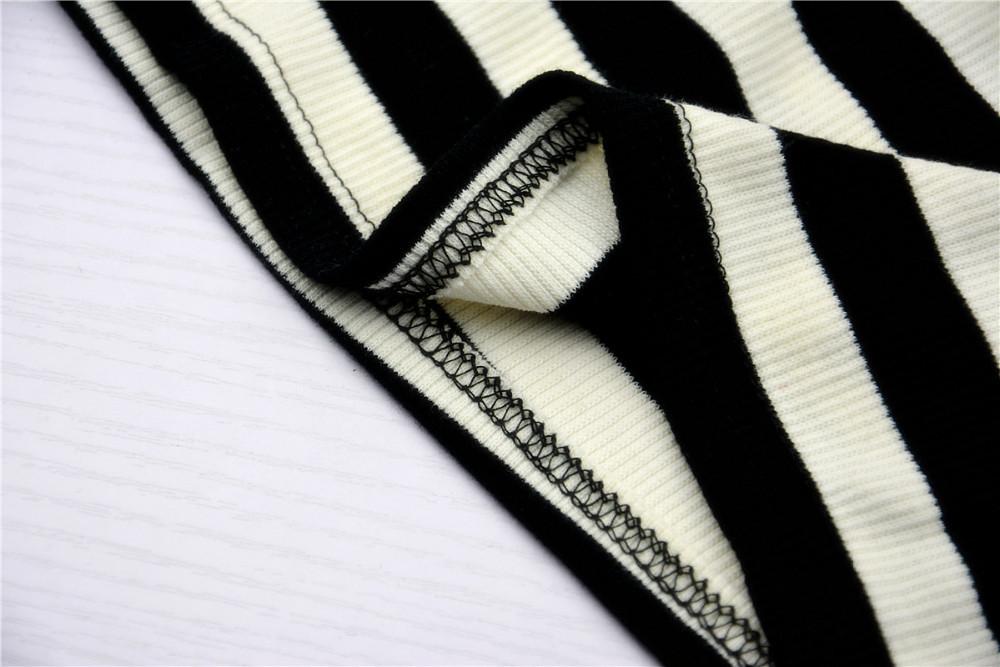 HTB16ofMJXXXXXXAXFXXq6xXFXXX8 - Blusa black white striped blouse shirts long sleeve