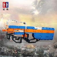 Simulation P90 Submachine Assault Snipe gun Military Technic Model Building Block Brick compatible with Legos toy gifts for kids