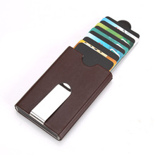Wholesale Men Card Holder Metal Credit Aluminum Money Wallet With Blocking Super Quality Case