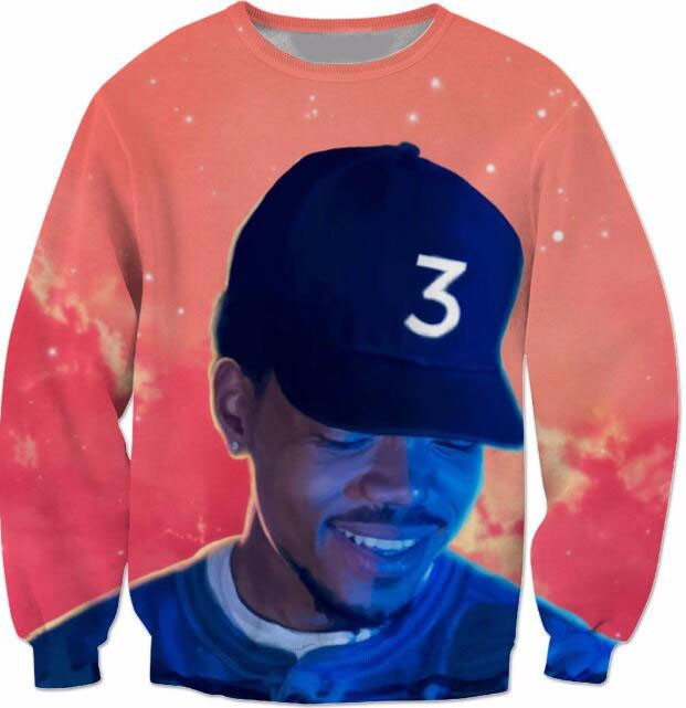 Popular chance the rapper 3 Sweatshirt Red Space Crewneck Casual Fashion Popular chance the rapper 3 Sweatshirt Red Space Crewneck Casual Fashion HTB16ofZLXXXXXXGXXXXq6xXFXXXT
