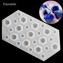 Facemile 1PCS Diamonds Gem Silicone Cool Ice Maker Cube Mold Tray Chocolate Bar Party Mould Crystal Jewerly Molds Tool 50-358(China)
