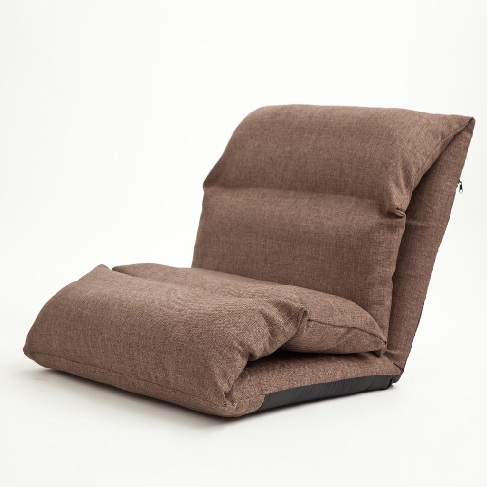 Bed chair backrest - Floor Seating Sofa Sleeper For Living Room Folding Adjustable Sleeper Day Bed Chair Linen Lazy Couch Modern Sleeper Sofa Chair