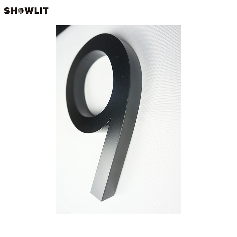 Black Color 3D Wall Mounted Signs Letters Custom Made цены
