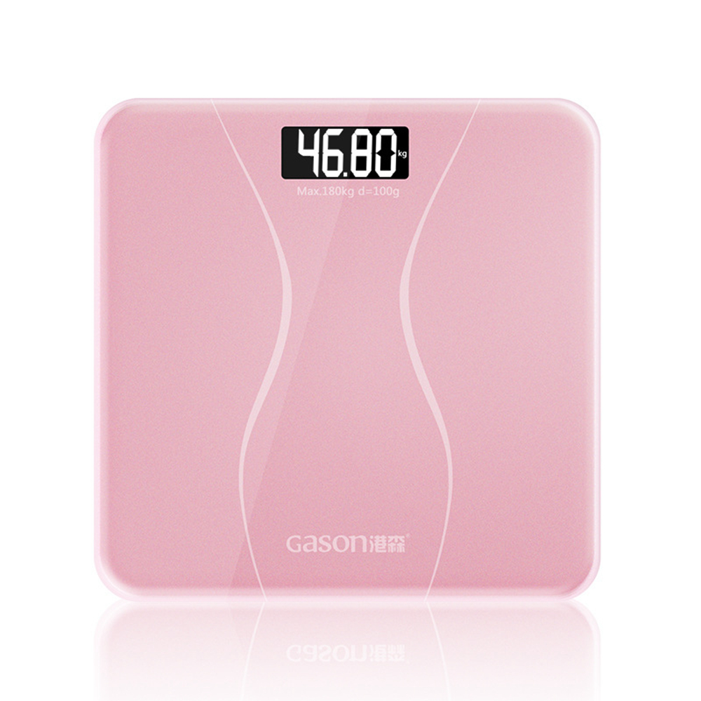 Bathroom floor scales smart household electronic digital Body bariatric LCD display Division value 180kg=400lb/0.1kg