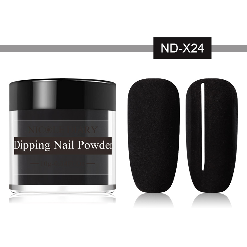 Image 3 - NICOLE DIARY 10g Matte Color Dipping Nail Powder Natural Dry Nail Art Decoration Without Lamp Cure Nail Dust Decors-in Nail Glitter from Beauty & Health