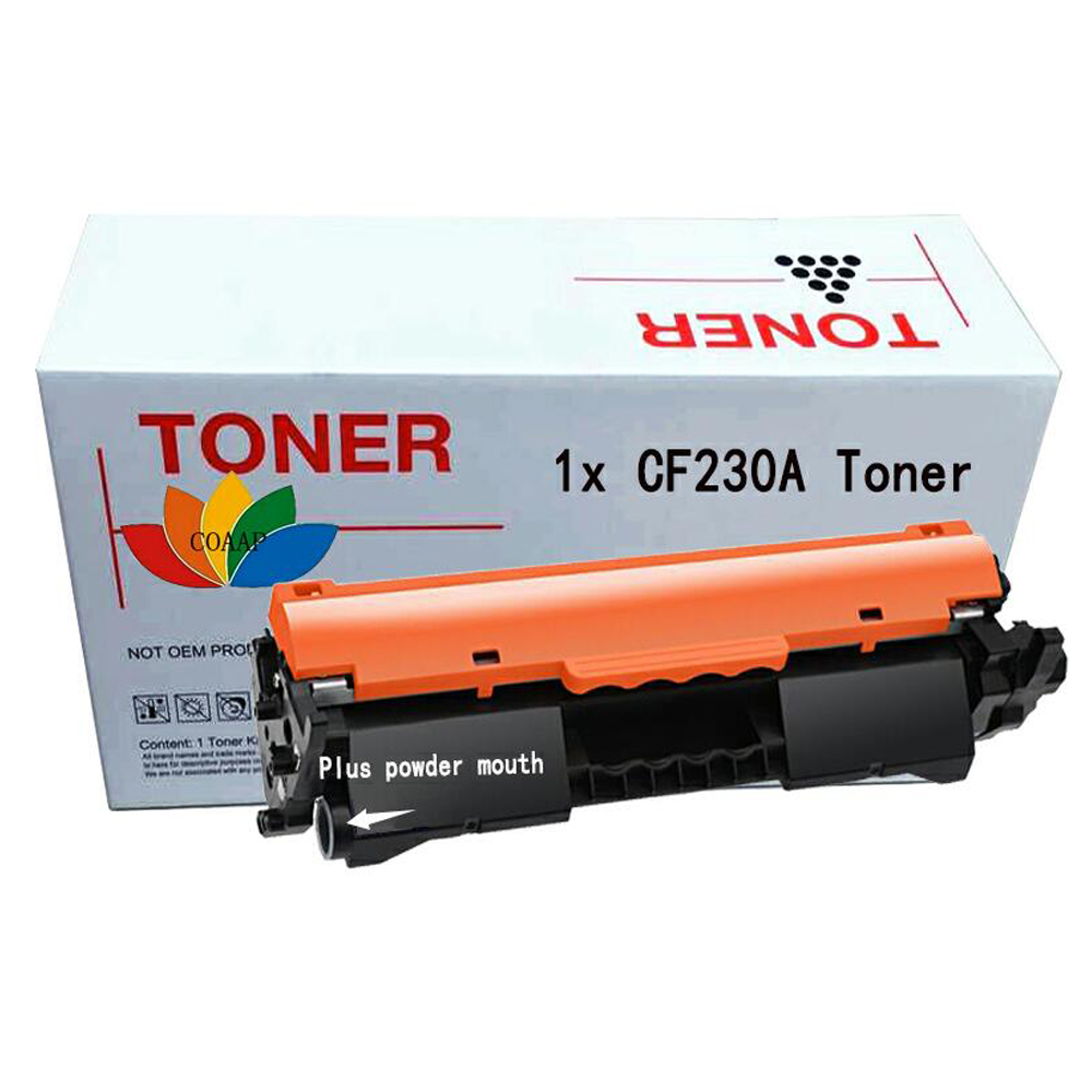 1x Black compatible HP CF230A 30A toner cartridge for hp LaserJet M203d M203dn M203dw MFP M227fdn M227fdw (No chip) impressora laserjet 2700 3000 rplacement for hp toner cartridge chip q7560a q7561a q7562a q7563a