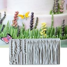 Fondant Cake Mold Grass Shape Silicone Molds For Baking Cake Decorating Tools Baking Tool For Cakes Sugarcraft Baking Mold